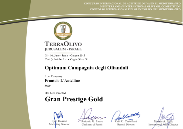 2015 GRAN PRESTIGE GOLD GERUSA